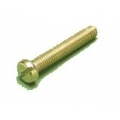 M4 x 12 Brass Slot Pan Head rolled thread Pack 100
