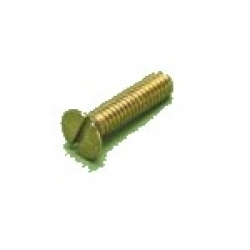 M2 x 4 Brass Slot Countersunk rolled thread Pack 50