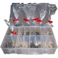 Metric & Imperial BA Grub Screw Kit Micro Assortment Steel - 15 x 100 Parts in Storage Box - Pack 1