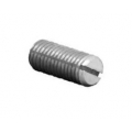 M3 x 5 Steel Slot Grub Screw Radius Point c/t Black Pack 50