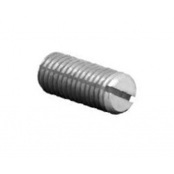 M3.5 x 10 Steel Slot Grub Screw Radius Point c/t Pack 100